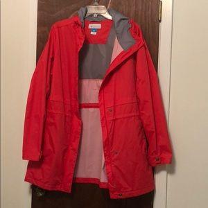 Columbia - Rain Coat - Rain Jacket - bright red